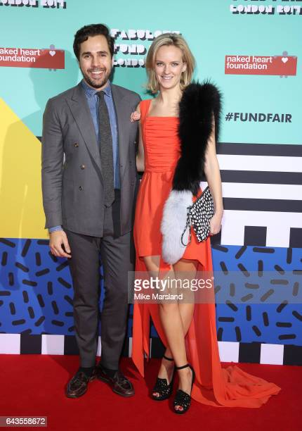 Charlotte Carroll and Diego BiveroVolpe attend The Naked Heart Foundation's London's Fabulous Fund Fair on February 21 2017 in London United Kingdom