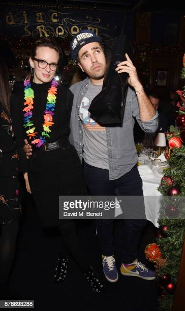 Charlotte Carroll and Diego BiveroVolpeattends Ollie Chambers Antoin Commane's annual themed party at Tramp on November 24 2017 in London England