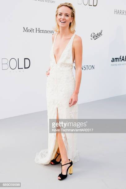 Charlotte Carroll arrives at the amfAR Gala Cannes 2017 at Hotel du CapEdenRoc on May 25 2017 in Cap d'Antibes France