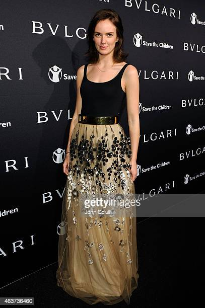 Charlotte Carroll attends BVLGARI and Save The Children STOP THINK GIVE PreOscar Event at Spago on February 17 2015 in Beverly Hills California