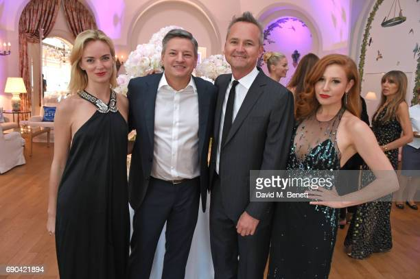 Charlotte Carroll Ted Sarandos Roy Price and Lila Feinberg attend the Vanity Fair and HBO Dinner celebrating the Cannes Film Festival at Hotel du...