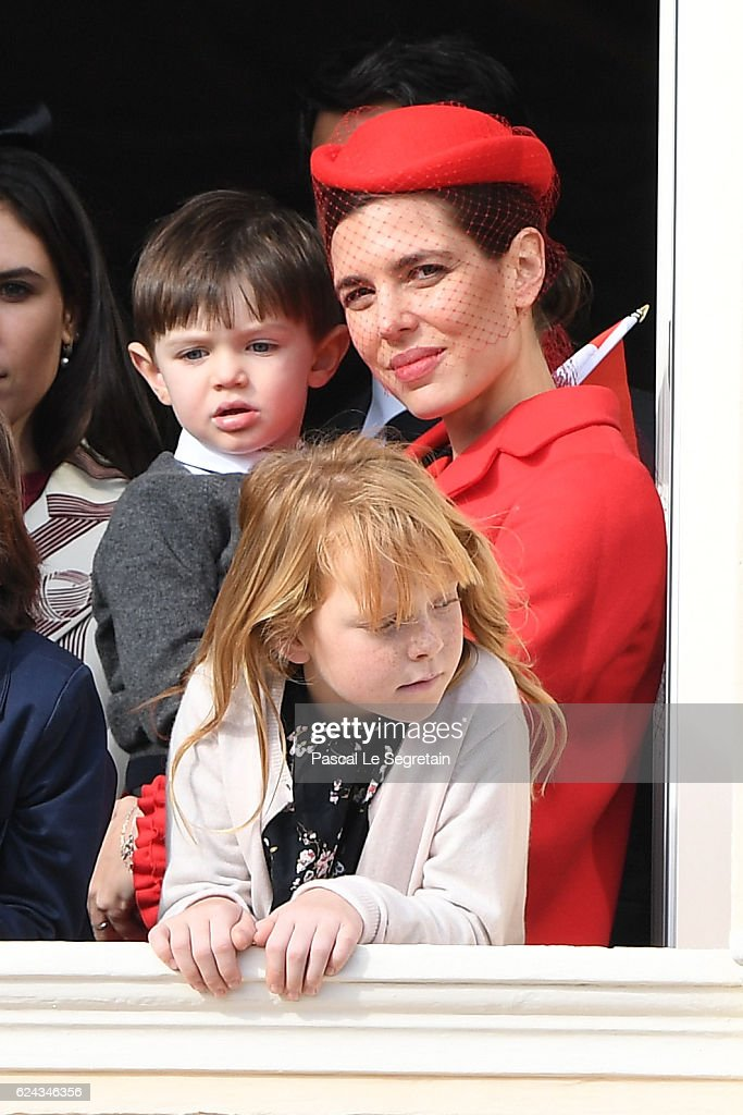 charlotte-casiraghi-and-a-her-son-raphael-casiraghi-greet-the-crowd-picture-id624346356
