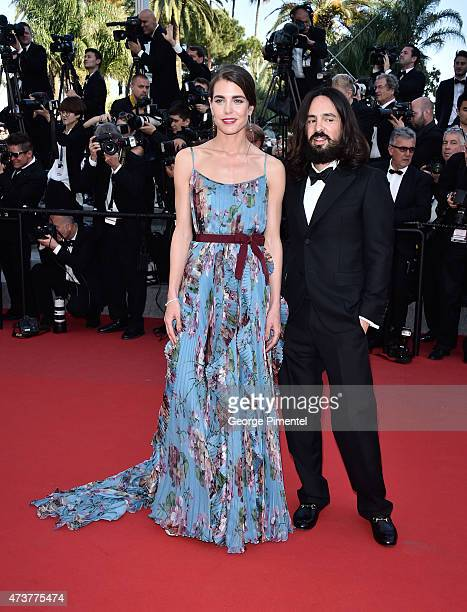 Charlotte Casiraghi and Alessandro Michele attend the 'Rocco And His Brothers' Premiere during the 68th annual Cannes Film Festival on May 17 2015 in...