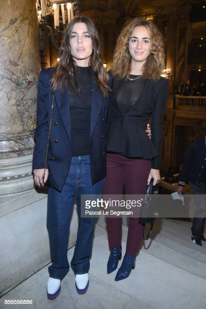 Charlotte Casiraghi and Alexandra Niedzielski attend the Stella McCartney show as part of the Paris Fashion Week Womenswear Spring/Summer 2018 on...