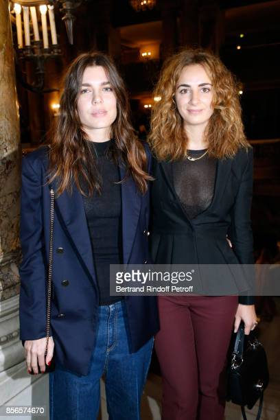 Charlotte Casiraghi and Alexia Niedzielski attend the Stella McCartney show as part of the Paris Fashion Week Womenswear Spring/Summer 2018 on...