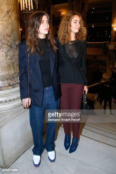 Charlotte Casiraghi and Alexia Niedzielski attend the Stella McCartney show as part of the Paris Fashion Week Womenswear Spring/Summer 2018 on...