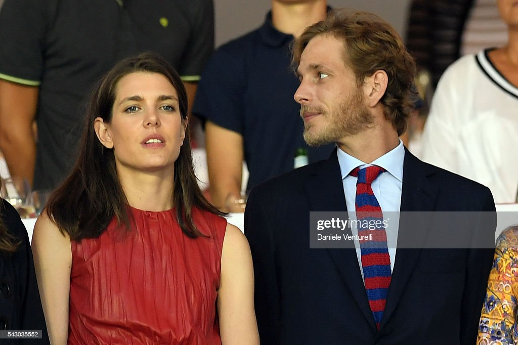<a gi-track='captionPersonalityLinkClicked' href=/galleries/search?phrase=Charlotte+Casiraghi&family=editorial&specificpeople=206874 ng-click='$event.stopPropagation()'>Charlotte Casiraghi</a> and <a gi-track='captionPersonalityLinkClicked' href=/galleries/search?phrase=Andrea+Casiraghi&family=editorial&specificpeople=213711 ng-click='$event.stopPropagation()'>Andrea Casiraghi</a> attend Longines Global Champions Tour of Monaco on June 24, 2016 in Monaco, Monaco.