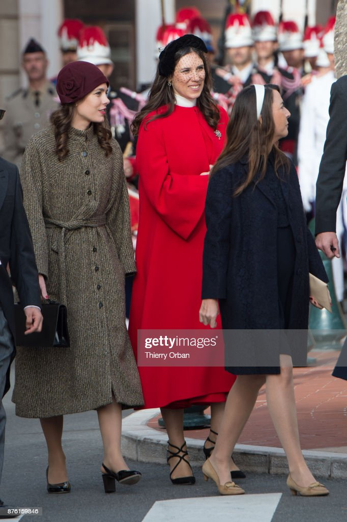 Charlotte Casiraghi and Beatrice Boromeo attend a Mass at Monaco Cathedral during the Monaco National Day Celebrations on November 19, 2017 in Monaco, Monaco.