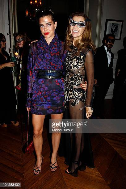Charlotte Casiraghi and Carine Roitfeld attend Vogue 90th Anniversary Party as part of Ready to Wear Spring/Summer 2011 Paris Fashion Week at Hotel...