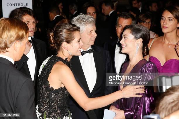 Charlotte Casiraghi and Dancer Aurelie Dupont attend the Opening Season Gala at Opera Garnier on September 21 2017 in Paris France