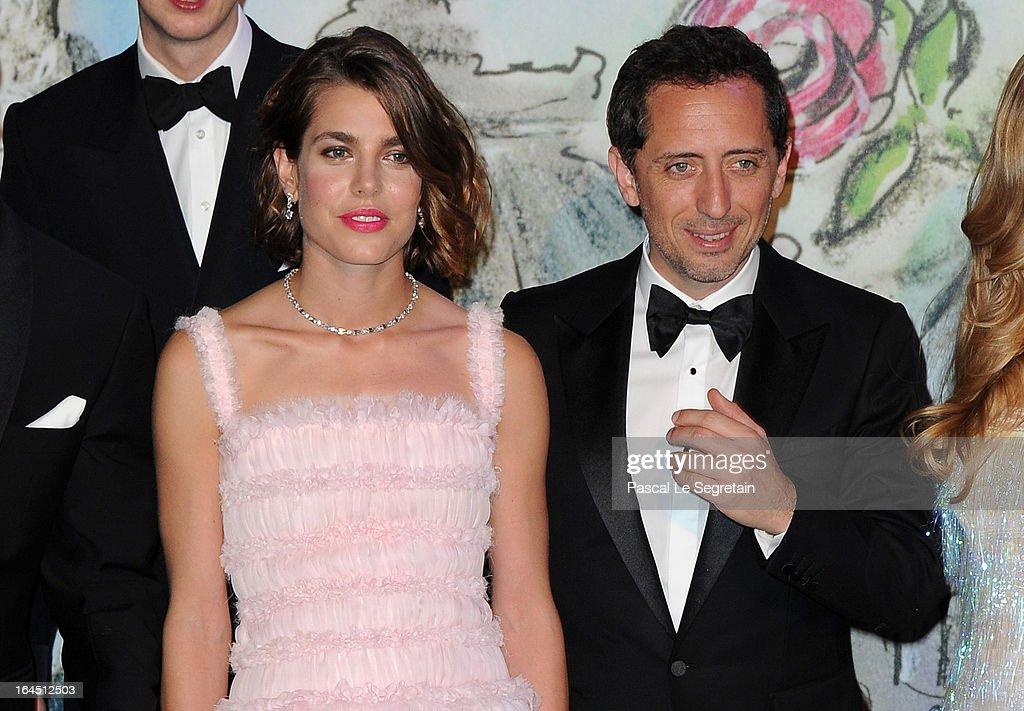 Charlotte Casiraghi (L) and Gad Elmaleh (R) attend 'Bal De La Rose Du Rocher' In Aid Of The Fondation Princess Grace - 150th Anniversary Of The SBM at Sporting Monte-Carlo on March 23, 2013 in Monte-Carlo, Monaco.
