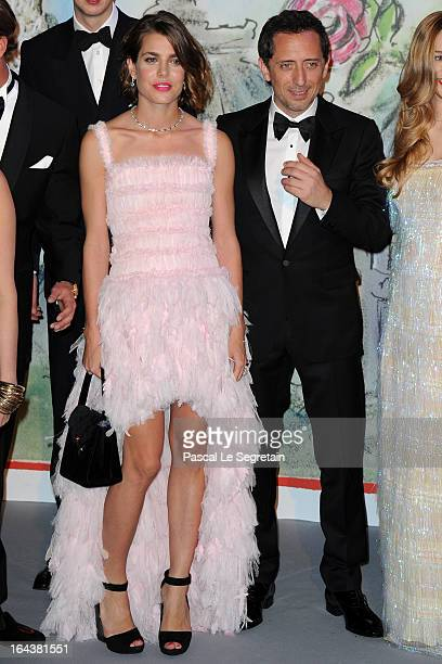 Charlotte Casiraghi and Gad Elmaleh attend the 'Bal De La Rose Du Rocher' in aid of the Fondation Princess Grace on the 150th Anniversary of the SBM...