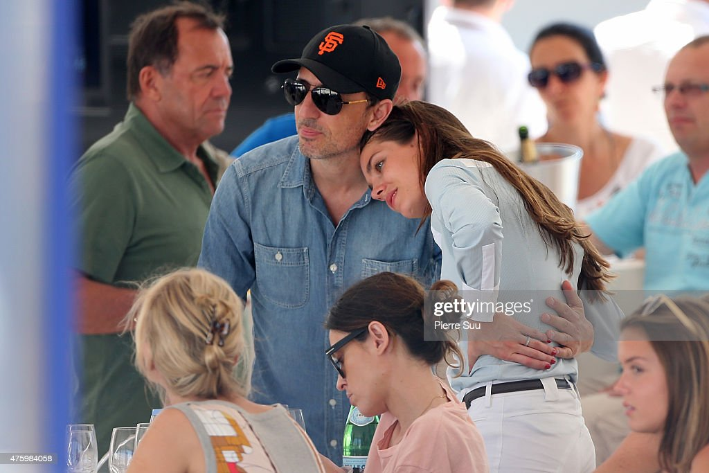 Charlotte Casiraghi and Gad Elmaleh attend the Longines Athina Onassis horse Show on June 5, 2015 in Saint-Tropez, France.