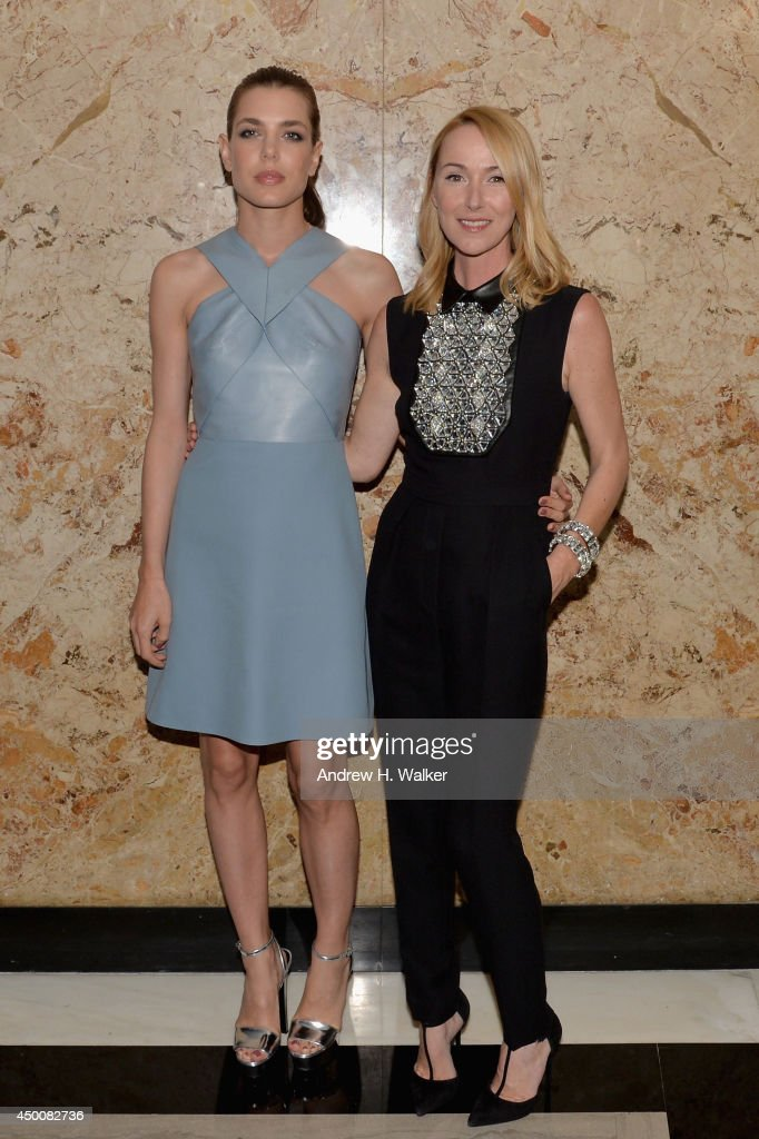 Charlotte Casiraghi and Gucci Creative Director Frida Giannini attend the Gucci beauty launch event hosted by Frida Giannini on June 4, 2014 in New York City.