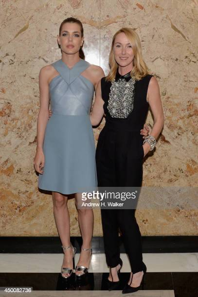 Charlotte Casiraghi and Gucci Creative Director Frida Giannini attend the Gucci beauty launch event hosted by Frida Giannini on June 4 2014 in New...