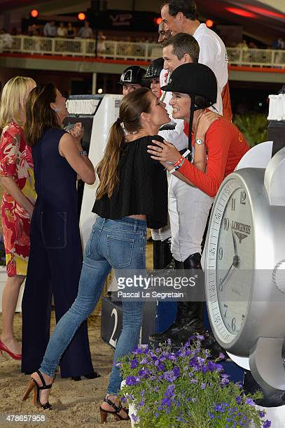 Charlotte Casiraghi and Jessica Springsteen attend the award ceremony of the Longines ProAm Cup Monaco during the 10th International MonteCarlo...