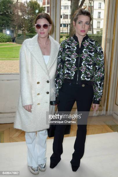Charlotte Casiraghi and Juliette Dol Maillot attend the Giambattista Valli show as part of the Paris Fashion Week Womenswear Fall/Winter 2017/2018 on...