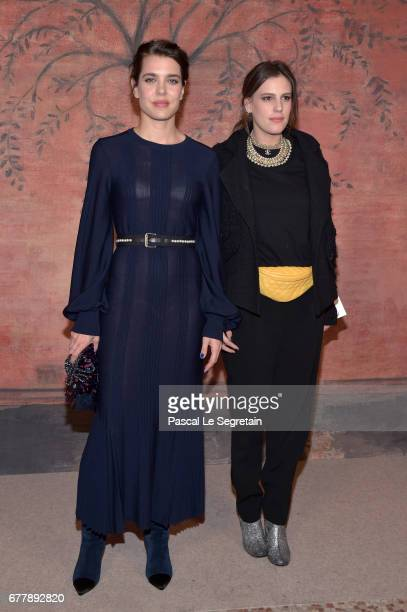 Charlotte Casiraghi and Juliette Maillot attend the Photocall of the 'Chanel Cruise 2017/2018 Collection' at Grand Palais on May 3 2017 in Paris...