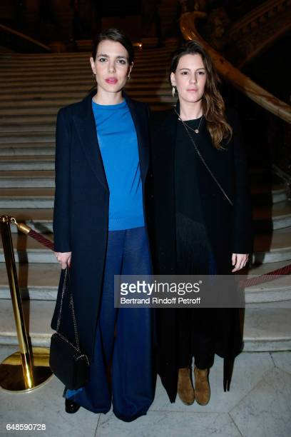 Charlotte Casiraghi and Juliette Maillot attend the Stella McCartney show as part of the Paris Fashion Week Womenswear Fall/Winter 2017/2018 on March...