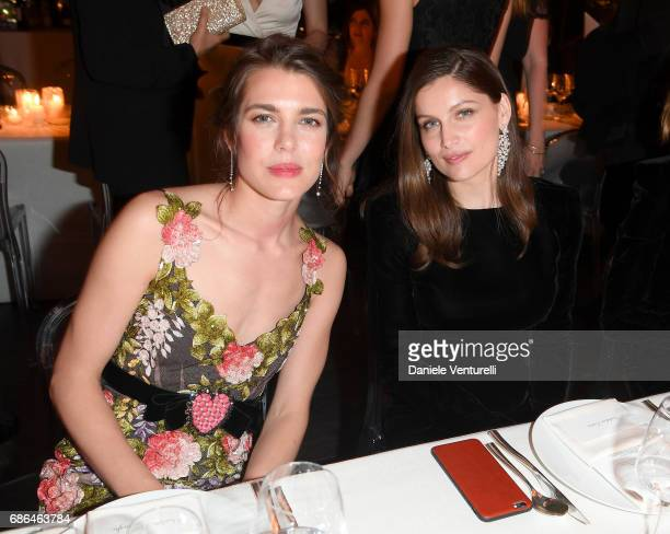 Charlotte Casiraghi and Laetitia Casta attend the Women in Motion Awards Dinner at the 70th Cannes Film Festival at Place de la Castre on May 21 2017...