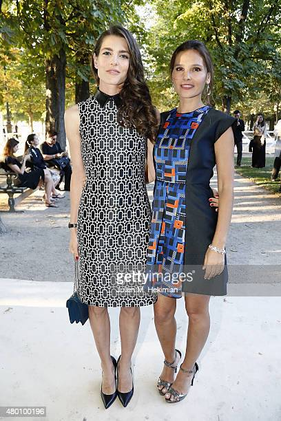 Charlotte Casiraghi and Virginie Ledoyen attend Montblanc Boheme Event Paris at Orangerie Ephemere on July 10 2015 in Paris France