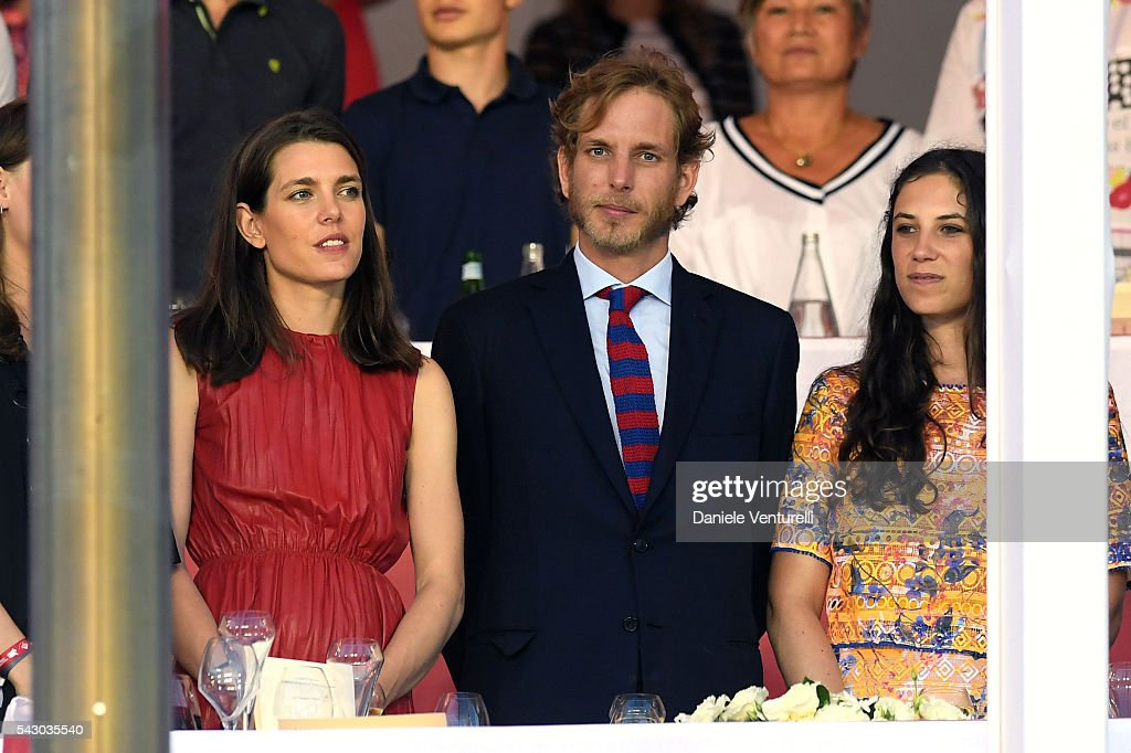 <a gi-track='captionPersonalityLinkClicked' href=/galleries/search?phrase=Charlotte+Casiraghi&family=editorial&specificpeople=206874 ng-click='$event.stopPropagation()'>Charlotte Casiraghi</a>, <a gi-track='captionPersonalityLinkClicked' href=/galleries/search?phrase=Andrea+Casiraghi&family=editorial&specificpeople=213711 ng-click='$event.stopPropagation()'>Andrea Casiraghi</a> and Tatiana Santodomingo attend Longines Global Champions Tour of Monaco on June 24, 2016 in Monaco, Monaco.
