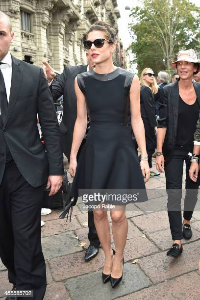 Charlotte Casiraghi arrives at Gucci Fashion Show during Milan Fashion Week Womenswear Spring/Summer 2015 on September 17 2014 in Milan Italy