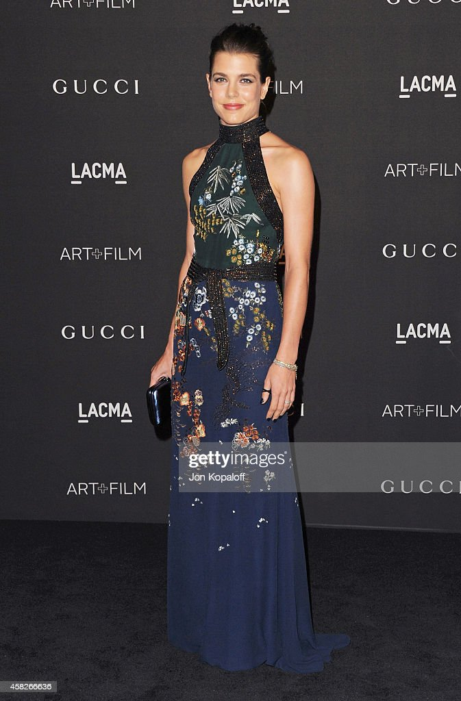 Charlotte Casiraghi arrives at the 2014 LACMA Art Film Gala Honoring Quentin Tarantino And Barbara Kruger at LACMA on November 1 2014 in Los Angeles...