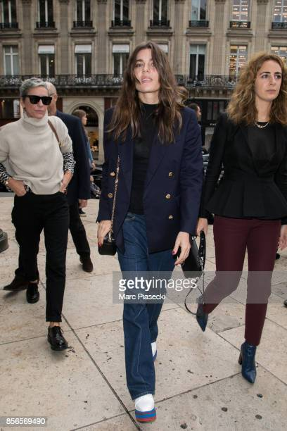 Charlotte Casiraghi arrives to attend the 'Stella McCartney' fashion show at Opera de Paris on October 2 2017 in Paris France