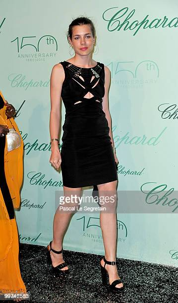 Charlotte Casiraghi attend the Chopard 150th Anniversary Party at Palm Beach Pointe Croisette during the 63rd Annual Cannes Film Festival on May 17...