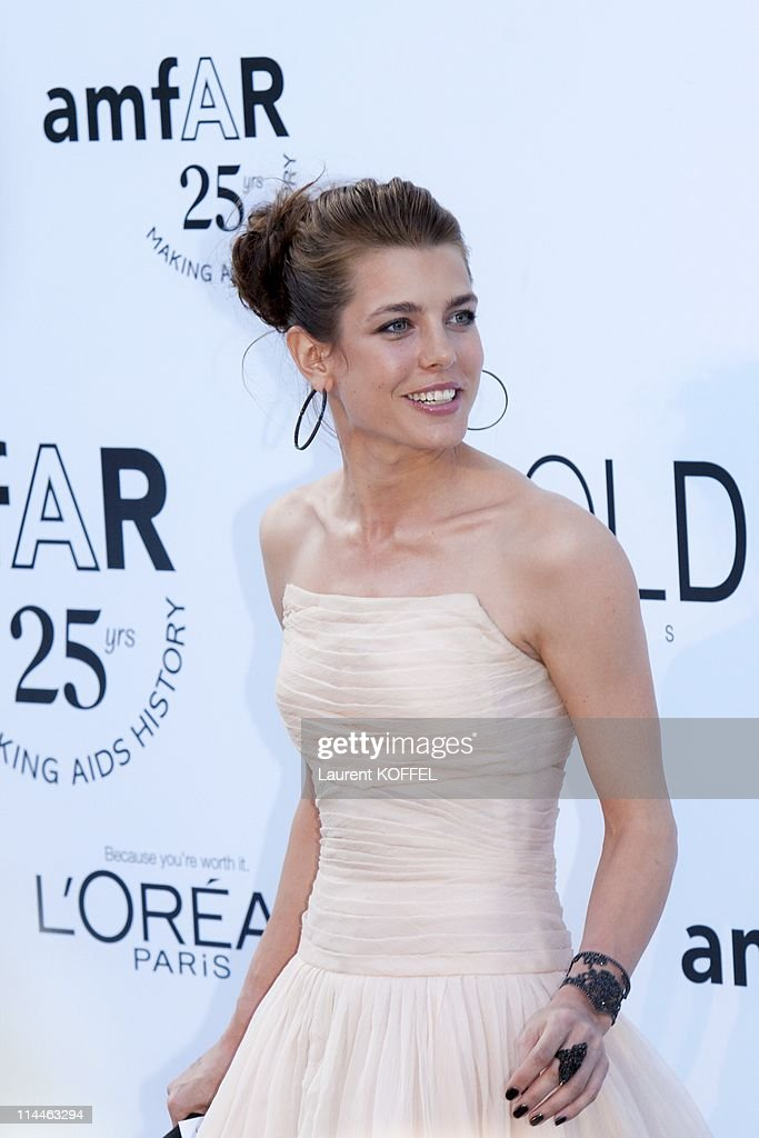 <a gi-track='captionPersonalityLinkClicked' href=/galleries/search?phrase=Charlotte+Casiraghi&family=editorial&specificpeople=206874 ng-click='$event.stopPropagation()'>Charlotte Casiraghi</a> attends amfAR's Cinema Against AIDS Gala during the 64th Annual Cannes Film Festival at Hotel Du Cap on May 19, 2011 in Antibes, France