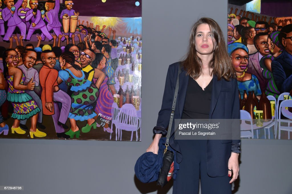 Charlotte Casiraghi attends 'Art Afrique, Le Nouvel Atelier' Exhibition Opening at Fondation Louis Vuitton on April 25, 2017 in Paris, France.