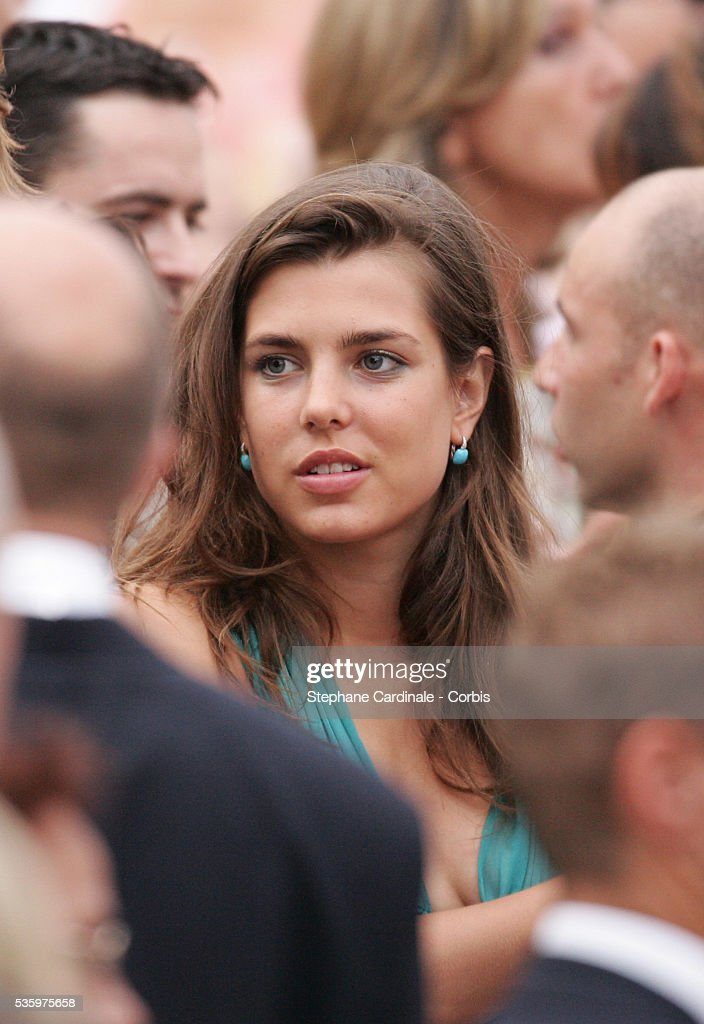 Charlotte Casiraghi attends Prince Albert II's key ceremony following his coronation mass held in the morning.