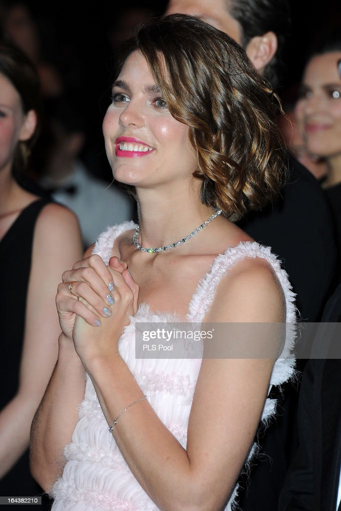 Charlotte Casiraghi attends the 'Bal De La Rose Du Rocher' in aid of the Fondation Princess Grace on the 150th Anniversary of the SBM at Sporting Monte-Carlo on March 23, 2013 in Monte-Carlo, Monaco.