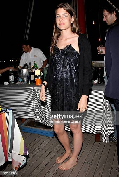 Charlotte Casiraghi attends the Bruce Nauman dinner party hosted by Missoni on the boat 'Timoteo' during the 2009 Venice Biennale on June 4 2009 in...