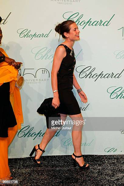 Charlotte Casiraghi attends the Chopard 150th Anniversary Party at Palm Beach Pointe Croisette during the 63rd Annual Cannes Film Festival on May 17...