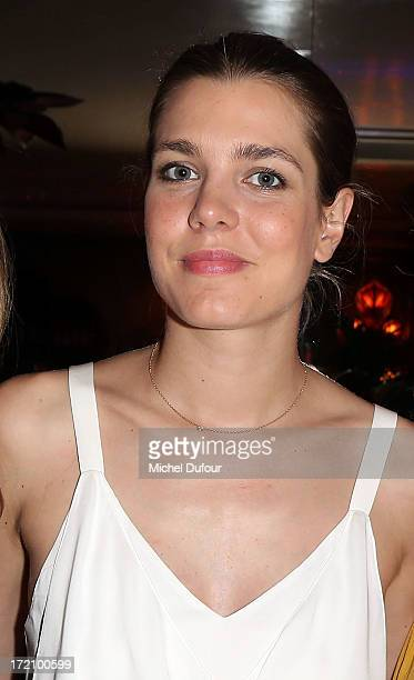 Charlotte Casiraghi attends the Eugenie Niarchos First Jewelry Collection Launch Cocktail on July 1 2013 in Paris France