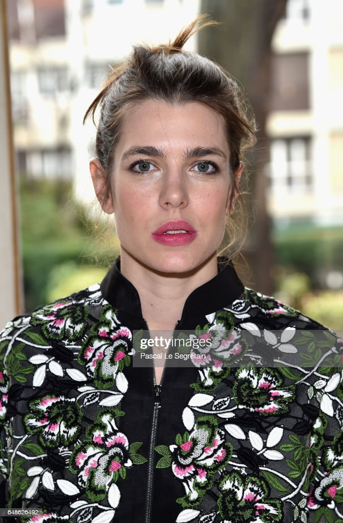 Charlotte Casiraghi attends the Giambattista Valli show as part of the Paris Fashion Week Womenswear Fall/Winter 2017/2018 on March 6, 2017 in Paris, France.
