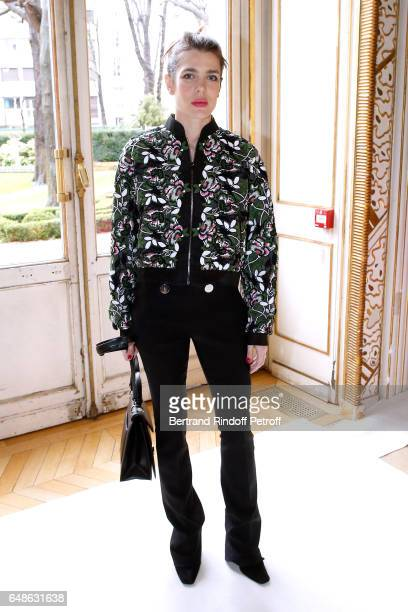 Charlotte Casiraghi attends the Giambattista Valli show as part of the Paris Fashion Week Womenswear Fall/Winter 2017/2018 on March 6 2017 in Paris...