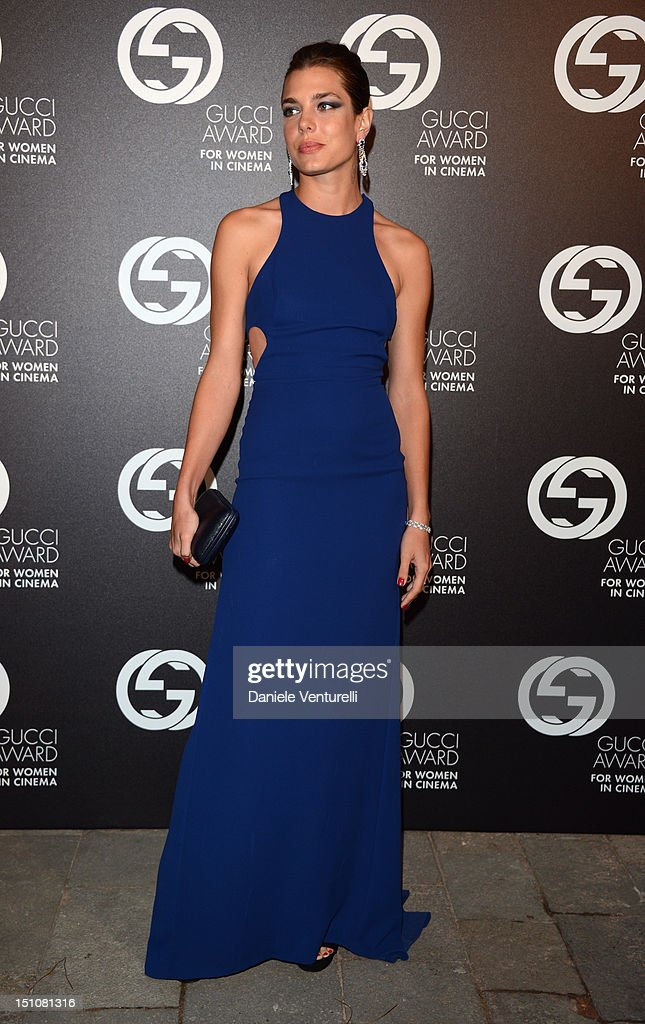 Charlotte Casiraghi attends the Gucci Award for Women in Cinema at The 69th Venice International Film Festival at Hotel Cipriani on August 31, 2012 in Venice, Italy.