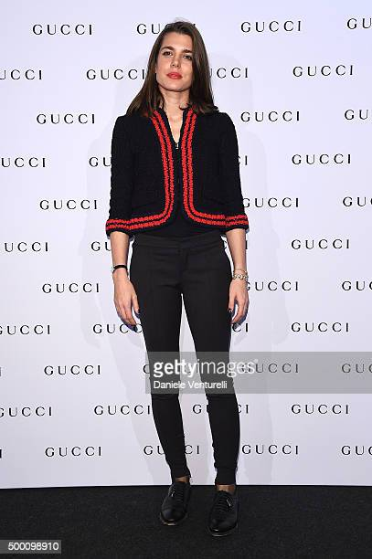 Charlotte Casiraghi attends the Gucci Gold Cup 2015 during the Paris Longines Masters on December 5 2015 in Villepinte France