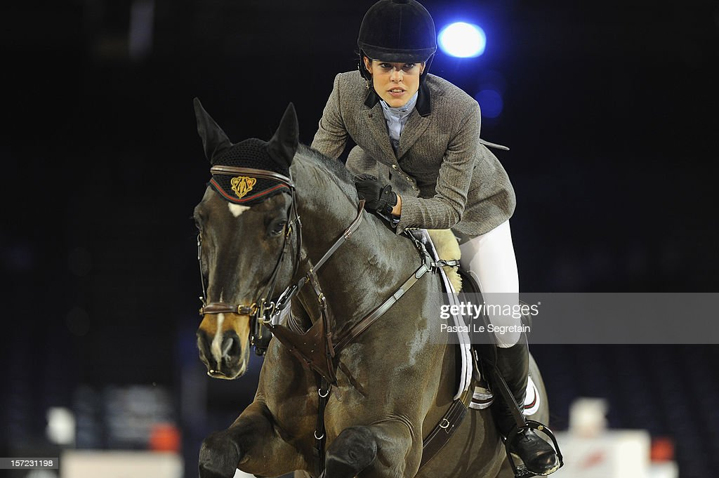 Charlotte Casiraghi attends the Haytt Price competition with Carryduff Z during the Gucci Paris Masters 2012 at Paris Nord Villepinte on November 30, 2012 in Paris, France.