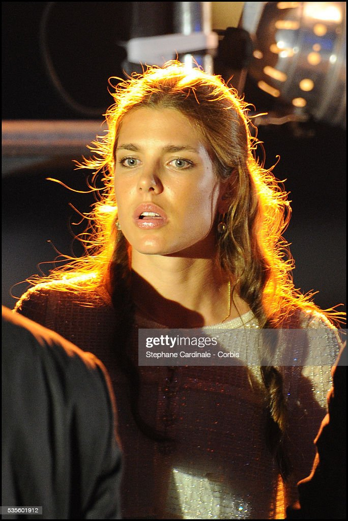 Charlotte Casiraghi attends the Jean Michel Jarre concert at the Port of Monaco celebrating the Royal Wedding of Prince Albert II of Monaco to...
