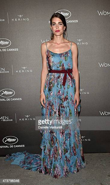 Charlotte Casiraghi attends the Kering Official Cannes Dinner at Place de la Castre on May 17 2015 in Cannes France