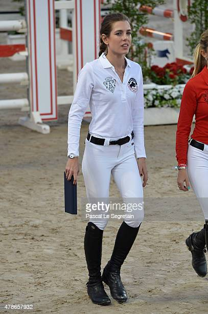 Charlotte Casiraghi attends the Longines ProAm Cup Monaco during the 10th International MonteCarlo Jumping on June 26 2015 in Monaco Monaco