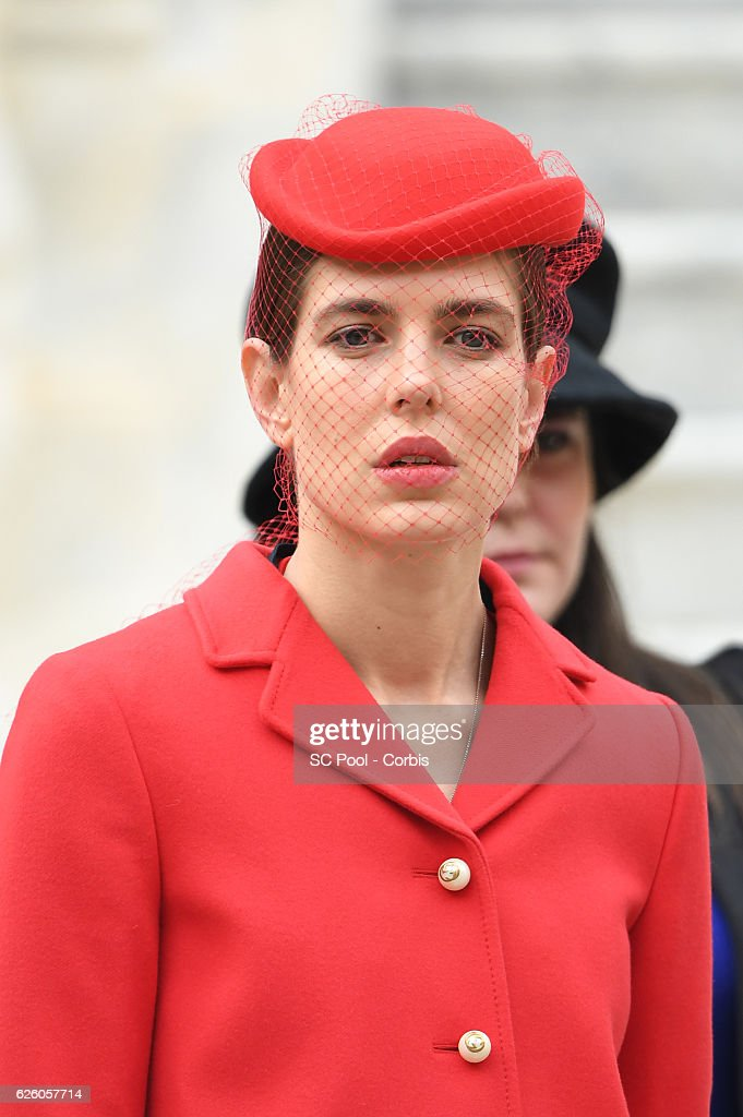 Charlotte Casiraghi attends the Monaco National Day Celebrations in the Monaco Palace Courtyard on November 19, 2016 in Monaco, Monaco.