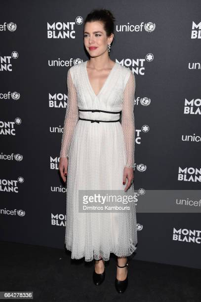 Charlotte Casiraghi attends the Montblanc UNICEF Gala Dinner at the New York Public Library on April 3 2017 in New York City