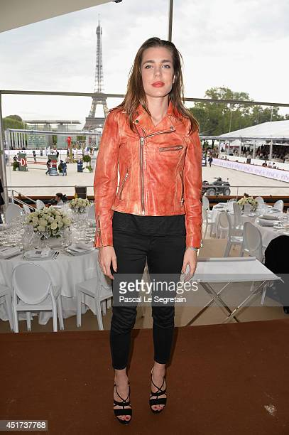 Charlotte Casiraghi attends the Paris Eiffel Jumping presented by Gucci at ChampdeMars on July 5 2014 in Paris France