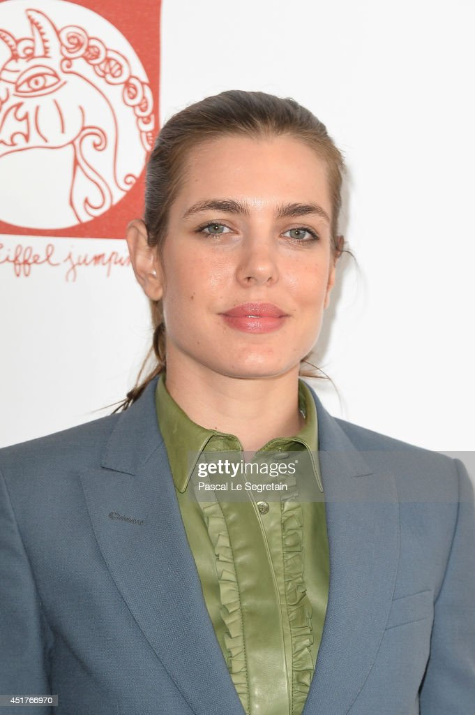 Charlotte Casiraghi attends the Paris Eiffel Jumping presented by Gucci at Champ-de-Mars on July 6, 2014 in Paris, France.
