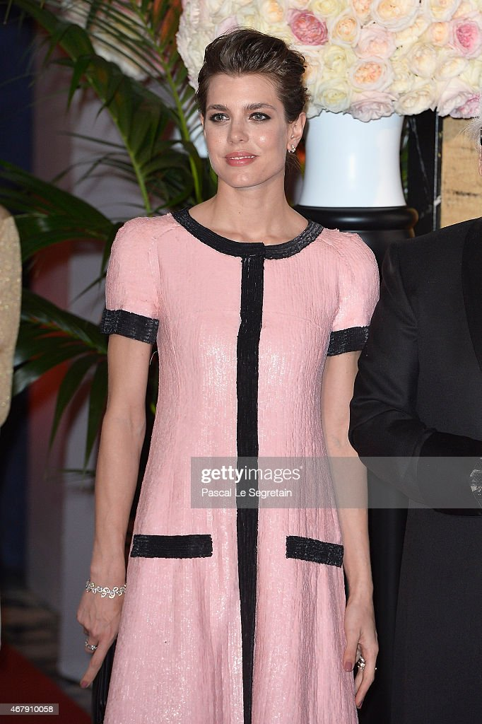 Charlotte Casiraghi attends the Rose Ball 2015 in aid of the Princess Grace Foundation at Sporting MonteCarlo on March 28 2015 in MonteCarlo Monaco